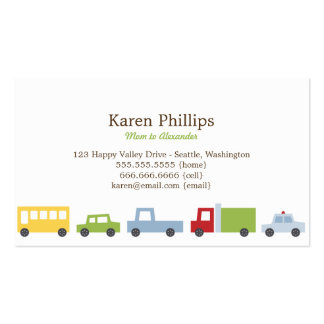 Vroom Vroom Cars Mommy Cards Pack Of Standard Business Cards