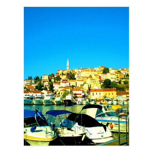 vrsar holiday paradise summer istria croatia postcard