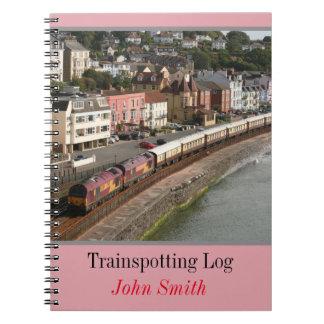 VSOE train - trainspotting log personalised Spiral Notebooks
