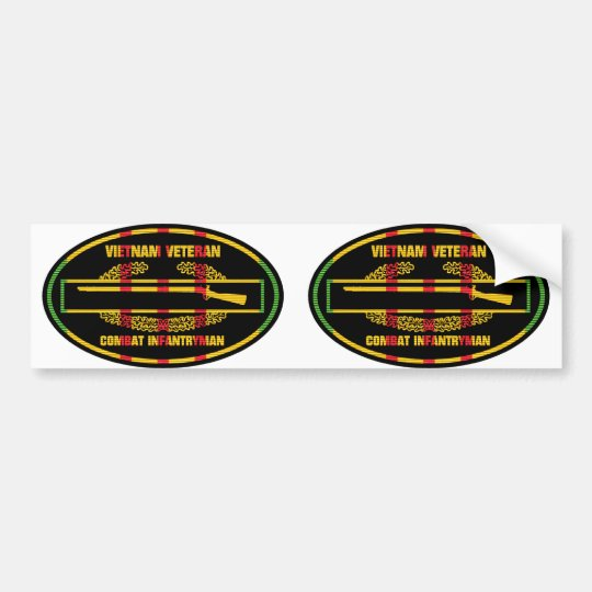 VSR Combat Infantryman Badge 2 for 1 Euro-Stickers Bumper Sticker