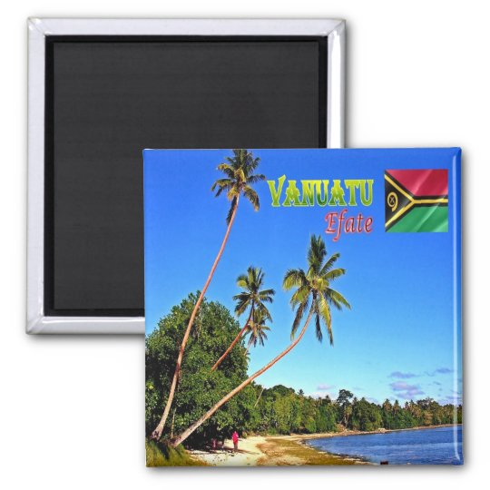 VU - Vanuatu - Efate -  Erakor Beach Square Magnet