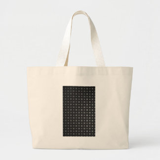 Vuitton Inspired Black Pattern Large Tote Bag