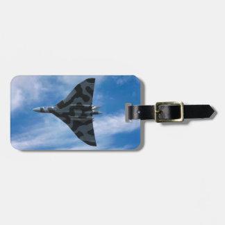Vulcan bomber in flight bag tag