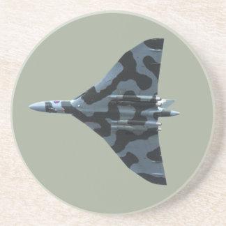 Vulcan bomber in flight beverage coasters