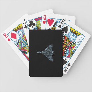 Vulcan bomber in flight bicycle playing cards