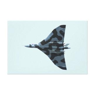Vulcan bomber in flight canvas print