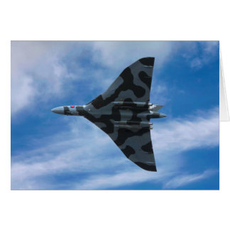 Vulcan bomber in flight card