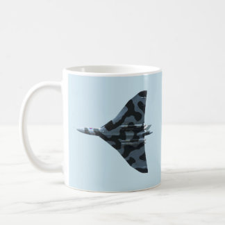 Vulcan bomber in flight coffee mug
