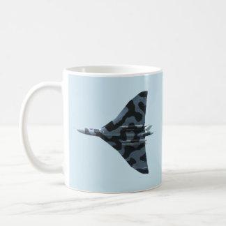 Vulcan bomber in flight coffee mug