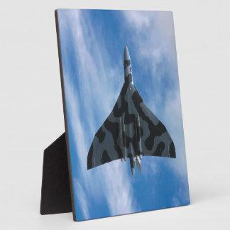 Vulcan bomber in flight display plaques