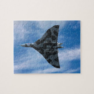 Vulcan bomber in flight jigsaw puzzle
