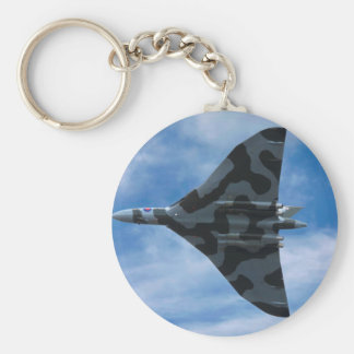 Vulcan bomber in flight key ring