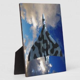 Vulcan bomber in flight photo plaque