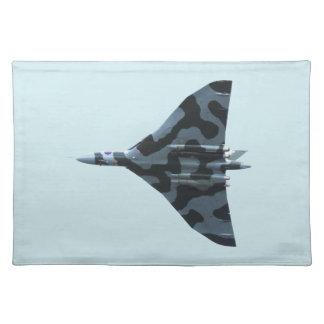 Vulcan bomber in flight placemat