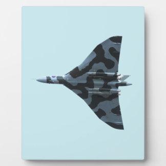 Vulcan bomber in flight plaques