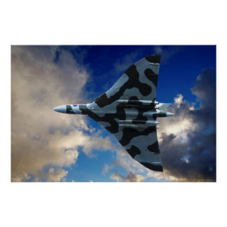 Vulcan bomber in flight poster