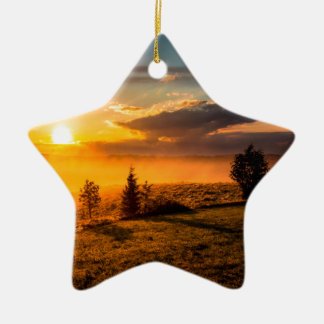 Vulcan Bomber Misty Dawn Christmas Ornament