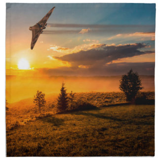 Vulcan Bomber Misty Dawn Cloth Napkins