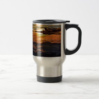 Vulcan bomber sunset sortie travel mug