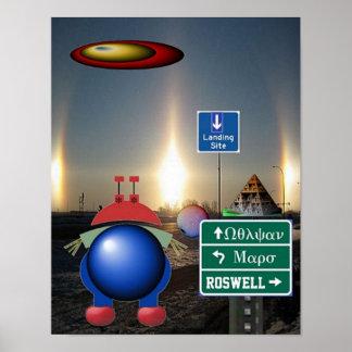 Vulcan Mars Roswell Poster