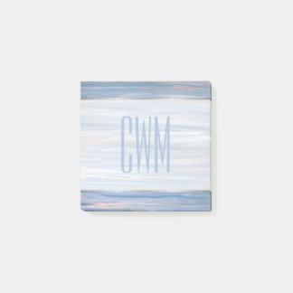 Vulnerable Office | Monogram Blue Peach Silver | Post-it Notes