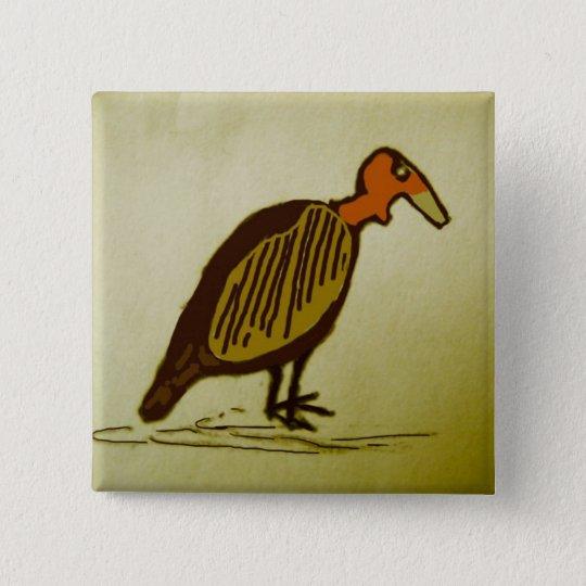 vulture 15 cm square badge