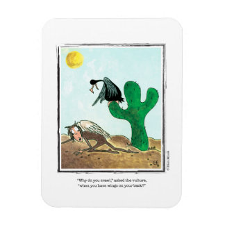 VULTURE cartoon by Ellen Elliott Rectangular Photo Magnet