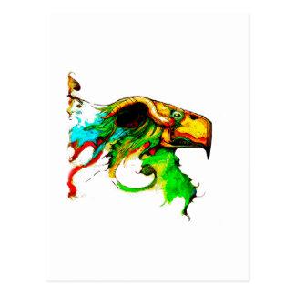 vulture-chicken postcard
