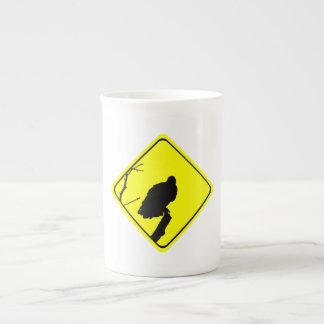 Vulture Crossing Bird Silhouette Crossing Sign Porcelain Mug