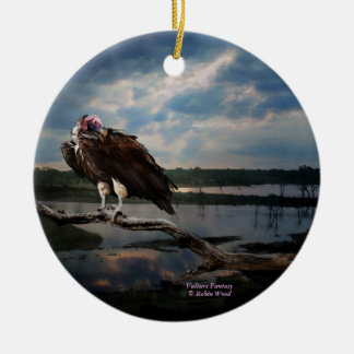 Vulture Fantasy ceramic hanging ornament