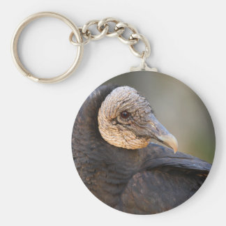 vulture basic round button key ring