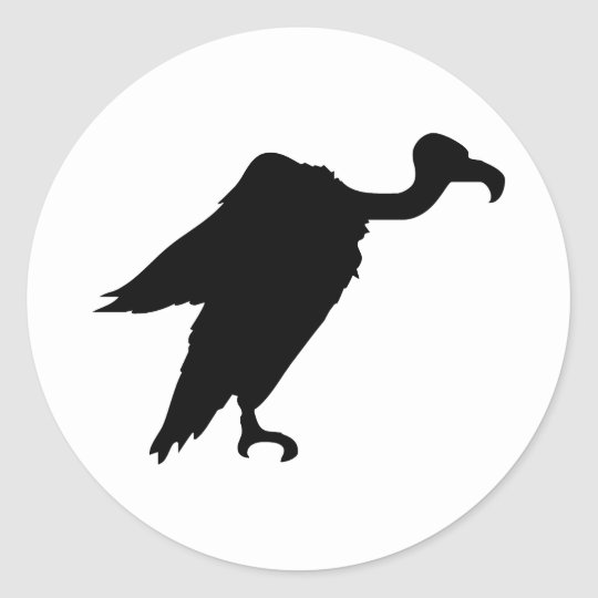 Vulture Silhouette Classic Round Sticker