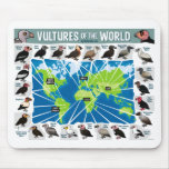 Vultures of the World Map Mousepad