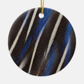 Vulturine Guineafowl feather Christmas Ornament