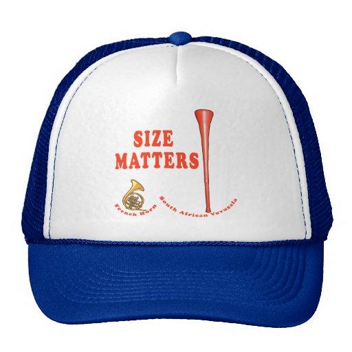 Vuvuzela Size Matters Funny Tshirt Design Cap