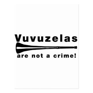 Vuvuzelas are not a crime postcard
