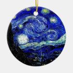 vVan Gogh Starry Night Fine Art Round Ceramic Decoration