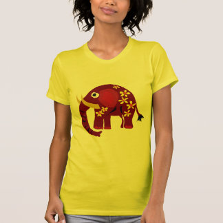 VW- Elephant and Daisies Primitive Art T-Shirt
