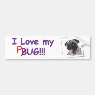 VW Fawn Pug Bumper Sticker