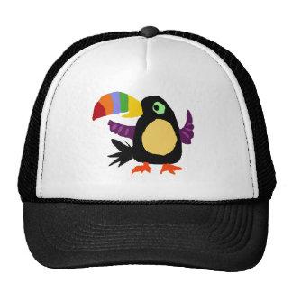 VW- Funny Toucan Bird Primitive Art Mesh Hat