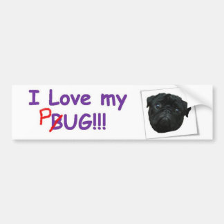 VW Pug Bumper Sticker