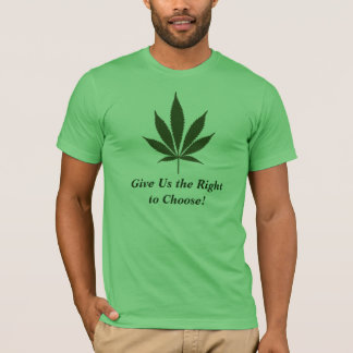 W01 Give Us the Right to Choose! Pot T-shirt