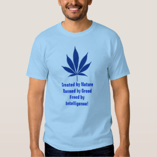 W10 Created by Nature... Pot Leaf T-shirt