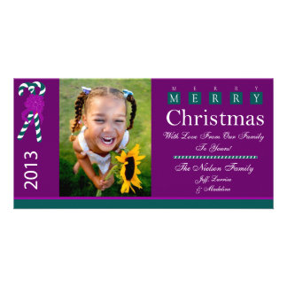 W1 Candy Cane-Plumb Xmas Photo Cards