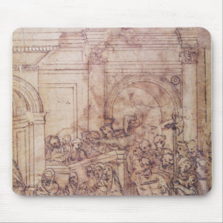 W.29 Sketch of a crowd for a classical scene Mouse Pad