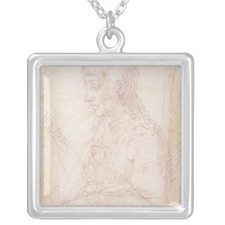 W.40 Sketch of a female figure Silver Plated Necklace