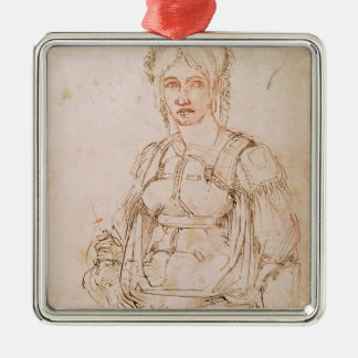 W.41 Sketch of a seated woman Christmas Ornament