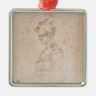 W.41 Sketch of a woman Christmas Ornament