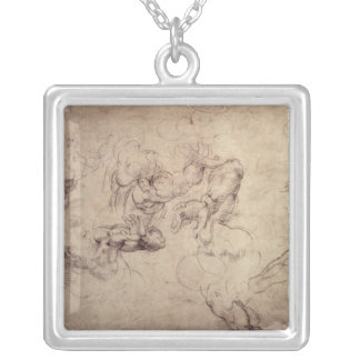 W.61v Male figure studies Silver Plated Necklace