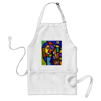 W Abstract by Piliero Adult Apron